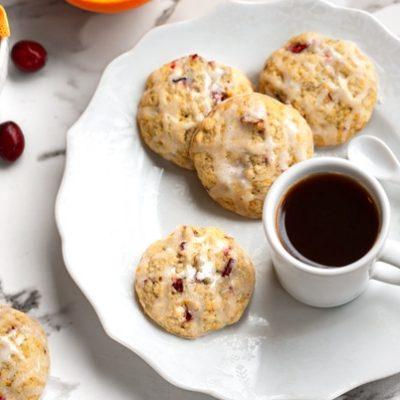 Soft-baked citrus cranberry cookies