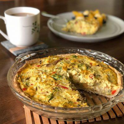 Tofu vegetable quiche