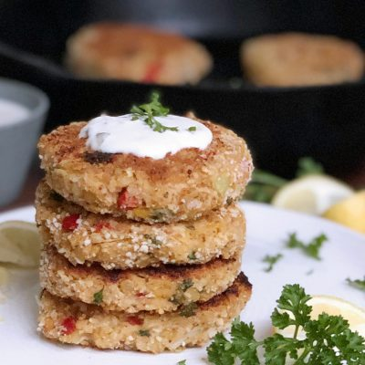 Chickpea Heart of Palm Crab Cakes